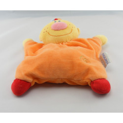 Doudou plat Billy et Babette rouge orange chien NATTOU