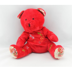 Doudou ours rouge NOCIBE INES