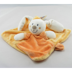 Doudou lapin blanc rose avec mouchoir PLUSHIES COLLECTION