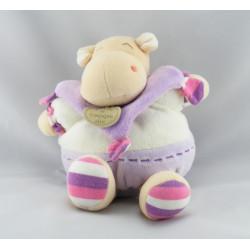 Doudou et compagnie marionnette hippopotame Léo mauve escargot