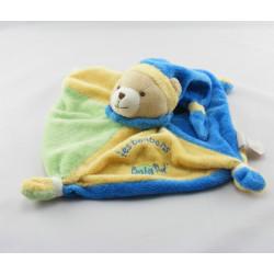 Doudou plat ours les bonbons vert bleu jaune BABY NAT