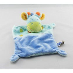 Doudou girafe bleu MOTS D'ENFANTS
