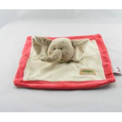 Doudou éléphant gris foulard orange BENGY