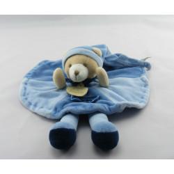 Doudou et Compagnie plat rond ours Filou bleu