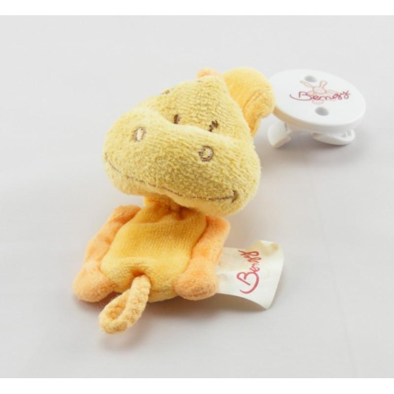 Doudou plat dinosaure jaune orange BENGY