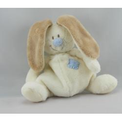Mini Doudou lapin beige nez bleu Bloupi JOLLYBABY