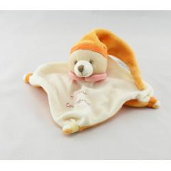 Doudou et compagnie plat lapin blanc rose