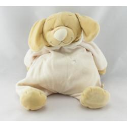 Doudou chien pyjama jaune col blanc NOUKIE'S