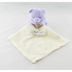 Doudou plat ours mouchoir mauve Baby nat