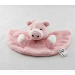 Doudou cochon rose nez rouge OKAIDI