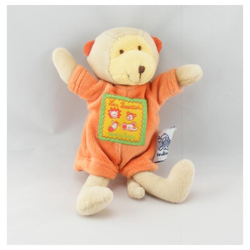 Mini Doudou singe orange les loustics MOULIN ROTY