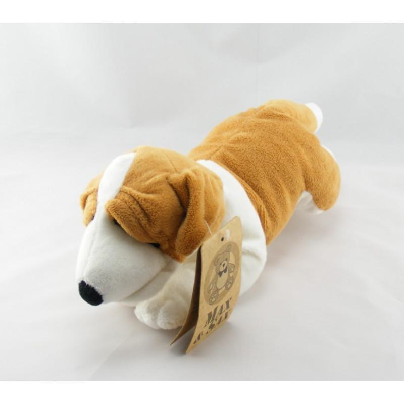 Doudou chiot chien beige couché MAX ET SAX