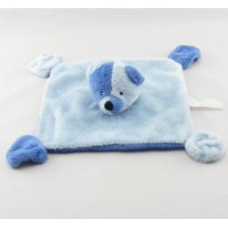 Doudou plat ours bleu ALPHANOVA BEBE