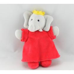 Doudou semi plat Céleste l'amie de Babar l'éléphant AJENA