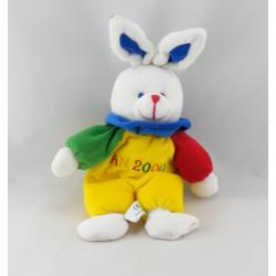Doudou lapin rose avec bonnet GIPSY