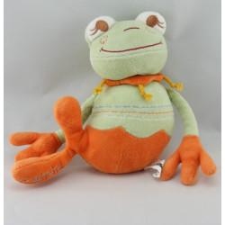 Doudou grenouille verte couronne reine CATIMINI