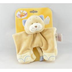 Doudou chat renard beige bleu BENGY