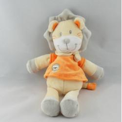 Doudou lion jaune orange KIABI KITCHOUN