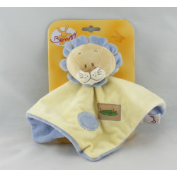 Doudou plat lion jaune bleu jungle BENGY