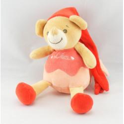 Doudou souris rose rouge Léa NOUNOURS NEUF