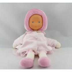 Doudou poupée bébé Mademoiselle rose COROLLE