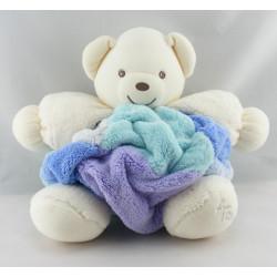 Doudou ours plume blanc bleu KALOO 1998