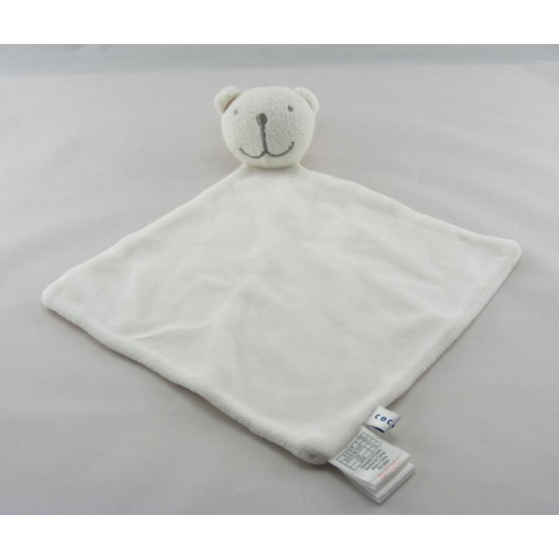 Doudou plat blanc Ours Cocoon