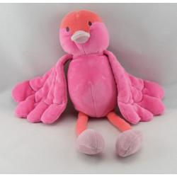 Doudou Oiseau rose MARESE NEUF
