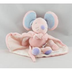 Doudou souris rose avec cape super doudou AJENA