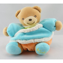 Doudou ours patapouf orange bleu Spirale LOLLIES KALOO