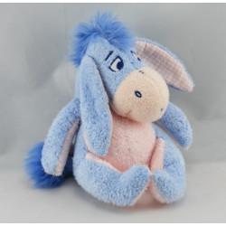 Doudou Bourriquet bleu clair oreilles vichy DISNEY NICOTOY
