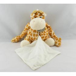 Doudou girafe orange pull blanc BABY NAT