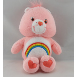 Peluche Bisounours rose Grosfarceur Arc en ciel CARE BEARS