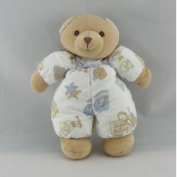 Doudou ours beige blanc imprimé salle de bain TARTINE ET CHOCOLAT
