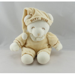 Doudou ours Baby Bear orange noeud blanc GIPSY
