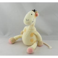 Doudou girafe jaune rose OBAIBI