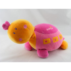 Protége cou doudou tortue rose orange BABYSUN