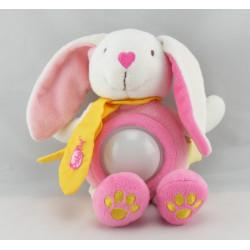 Doudou veilleuse lapin rose BABY NAT