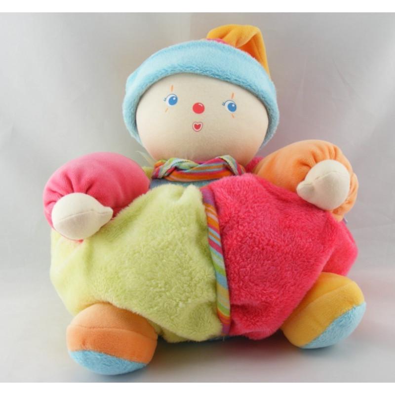 Doudou clown patapouf multicolore COROLLE 38 cm