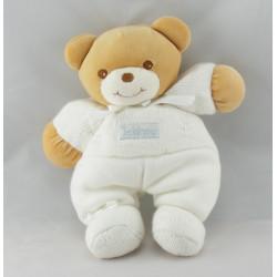 Doudou ours blanc laine bandeau TAKINOU