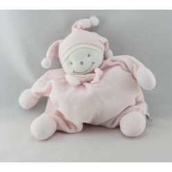 Doudou semi plat lutin fille rose POP ART