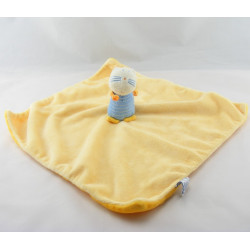 Doudou plat jaune chat bleu P'TIT DODO