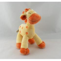 Doudou Girafe orange saumon MOTS D'ENFANTS