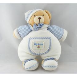Doudou ours vichy bleu KALOO