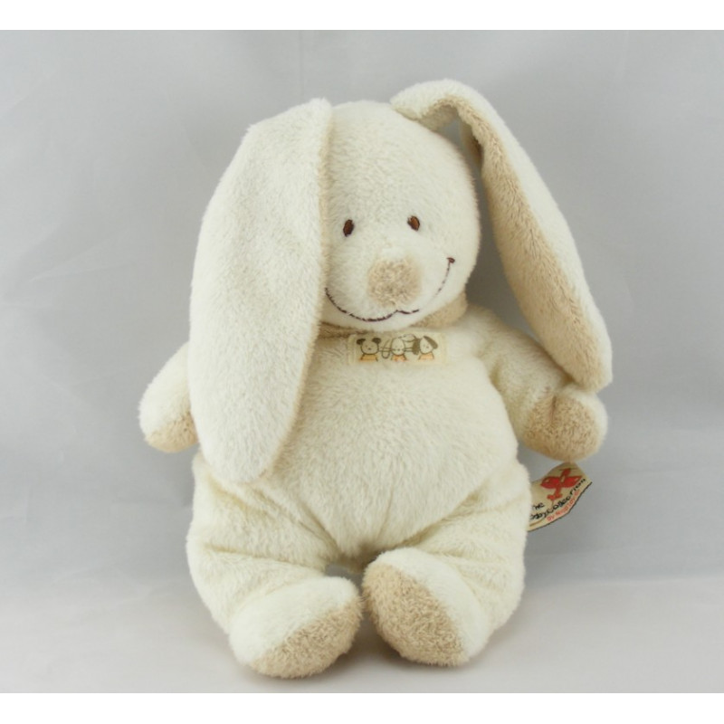 Doudou lapin ecru beige NICOTOY