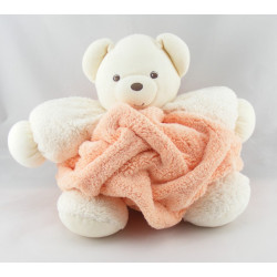 Doudou ours plume blanc rose clair KALOO
