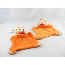 Doudou et compagnie plat Ours orange cannelle