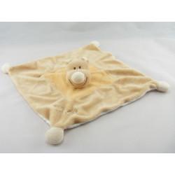 Doudou hippopotame tee shirt orange poisson JOLLYBABY 30 cm