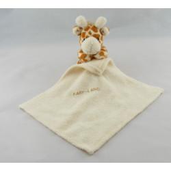 Doudou girafe avec mouchoir BABY LAND