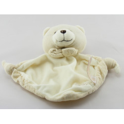 Doudou plat ours beige blanc TIAMO COLLECTION